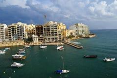 7 novembre - jour du cyclone méditerranéen à Malte Image libre de droits