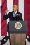 7 NOVEMBRE 2016, L'INDÉPENDANCE HALL, PHIL , PA - le Président Barack Obama parle chez Hillary Clinton Election Eve Get Out le Ra Images libres de droits