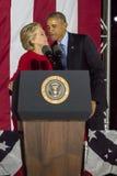 7 NOVEMBRE 2016, L'INDÉPENDANCE HALL, PHIL , PA - le Président Obama et candidat démocrate à la présidentielle Hillary Clinton Ho Images libres de droits