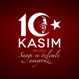 10 novembre, Memorial Day d'Ataturk, 1881-1938 Photos stock