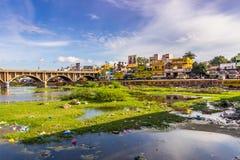13 novembre 2014: Paesaggio intorno a Madura, India Fotografie Stock Libere da Diritti