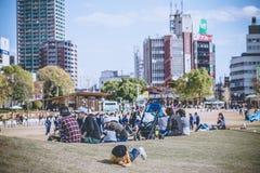 2015 - 11 novembre, parco di Tennoji in autunno Immagine Stock Libera da Diritti