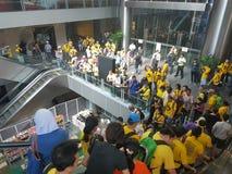 19 novembre 2016, raduno di Bersih 5 dei €™s di Kuala Lumpur Malaysiaâ: i dimostranti pesano il costo di azione nell'ambito di un Immagine Stock Libera da Diritti
