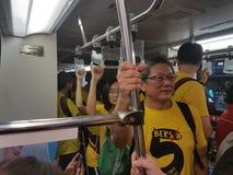 19 novembre 2016, rassemblement de Bersih 5 de €™s de Kuala Lumpur Malaysiaâ : les protestataires pèsent le coût d'action sous un Photographie stock libre de droits