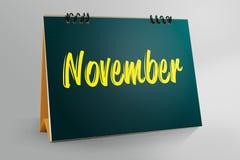 Novembre scritto in calendario da tavolino illustrazione vettoriale