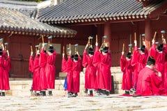 1° novembre 2014, Seoul, Corea del Sud: Cerimonia di Jerye nel santuario di Jongmyo Fotografie Stock
