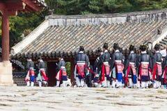 1° novembre 2014, Seoul, Corea del Sud: Cerimonia di Jerye nel santuario di Jongmyo Fotografia Stock Libera da Diritti