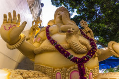 11 novembre 2014: Statua della divinità Ganesha in un tempio in sedere Fotografia Stock Libera da Diritti