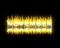 Novembre sur l'incendie Photos stock