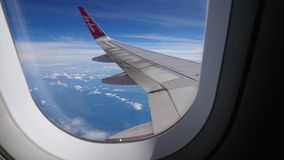 20 novembre 2017 : Vols d'Air Asia de Chiang Rai CEI - Chiang Rai Intl vers Bangkok DMK - Don Mueang Intl Image libre de droits