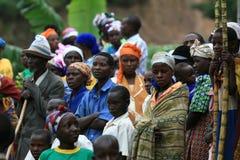 ò Novembro 2008. Refugiados do Dr. Congo Imagens de Stock