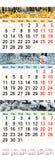 novembro dezembro de 2017 e janeiro de 2018 com imagens coloridas Foto de Stock