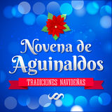 Novena de aguinaldos - el noveno del español de las primas manda un SMS libre illustration