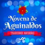 Novena de aguinaldos - Ninth of Bonuses spanish text Stock Photography