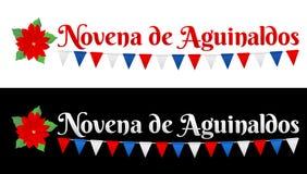 Novena de aguinaldos, nono do texto espanhol dos bônus ilustração royalty free