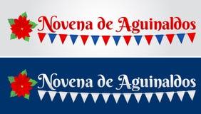 Novena de aguinaldos, nono dos bônus texto espanhol, tradição do Natal em Colômbia ilustração stock