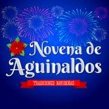 Novena de aguinaldos - traducción española: Noveno de primas, es una tradición católica de la Navidad en Colombia libre illustration