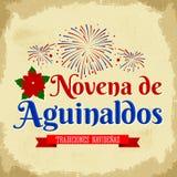 Novena de las primas de la Navidad - traducción española: Noveno de primas, es una tradición católica de la Navidad en Colombia ilustración del vector