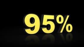 Noventa y cinco representaciones del por ciento 3D del 95% Fotografía de archivo