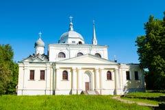 novgorod Ρωσία veliky Τοπίο αρχιτεκτονικής της αρχαίας εκκλησίας της Nikita ο μάρτυρας Στοκ εικόνα με δικαίωμα ελεύθερης χρήσης