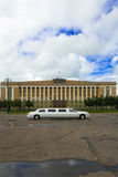 Novgorod administration buildi. Luxury car in front of Novgorod regional administration building, Russia stock photography