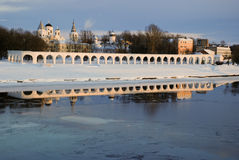 Novgorod. Cara comercial. Fotografía de archivo