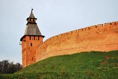 Novgorod Detinets igualmente o Kremlin de Novgorod foto de stock