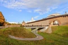 Novgorod el Kremlin, el panorama Imágenes de archivo libres de regalías