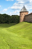 Novgorod fortress with guard towers Royalty Free Stock Photography
