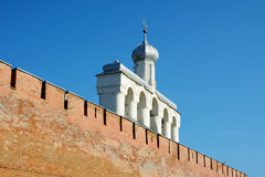 Novgorod the Great, the belfry of St. Sophia Cathedral Royalty Free Stock Photo