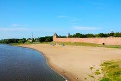 Novgorod the Great, city beach Stock Photos