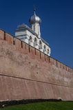 Novgorod het Kremlin in Veliky Novgorod, Rusland De klokketoren van St S stock afbeelding