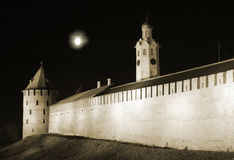 The Novgorod Kremlin. At night Stock Photo