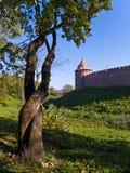 Novgorod Kremlin. Metropolitan Tower, fortification Novgorod Kremlin. Veliky Novgorod, Russia Royalty Free Stock Image