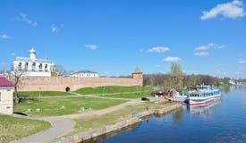 Novgorod Kremlin. The belfry of St. Sophia cathedral in Novgorod Kremlin, Russia Royalty Free Stock Photos