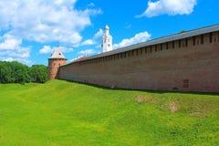 The Novgorod Kremlin Detinets. Russia, Veliky Novgorod. Stock Image