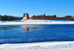 Novgorod Kremlin fortress in sunny winter day in Veliky Novgorod, Russia. Royalty Free Stock Photo