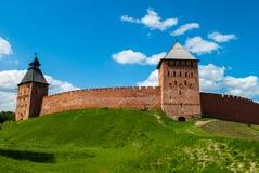 Novgorod kremlin. One of the most beautiful Russian kremlins stock photos