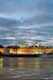 Novgorod Kremlin and St. Sophia Catedral in Veliky Novgorod, Russia - night landscape Stock Photo