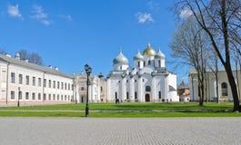 Novgorod Kremlin. St. Sophia cathedral in sunny day at Novgorod Kremlin, Veliky Novgorod, Russia Royalty Free Stock Image