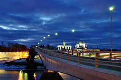 Novgorod Kremlin in Veliky Novgorod, Russia - night landscape Royalty Free Stock Images
