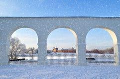 Novgorod Kremlin in Veliky Novgorod, Russia - winter view in sunny day Royalty Free Stock Images