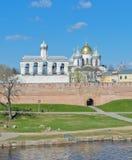 Novgorod Kremlin. In Veliky Novgorod, Russia. The belfry of St. Sophia Cathedral royalty free stock images