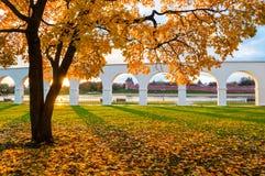 Novgorod Kremlin and Yaroslav Courtyard arch, Veliky Novgorod, Russia. Autumn view. Autumn view of Veliky Novgorod, Russia. Novgorod Kremlin and Yaroslav Royalty Free Stock Photography