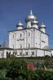 Novgorod may 2018 Varlaamo-Khutyn Convent Transfiguration Cathedral stock photos