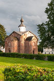 Novgorod. Old brick church Royalty Free Stock Photo