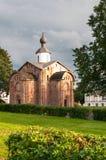 Novgorod. Old brick church Royalty Free Stock Photo