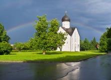 Novgorod. Rainbow Stock Photos