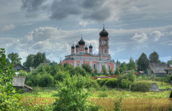 Russian village, Novgorod region, Russia Royalty Free Stock Photos