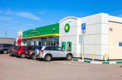 NOVGOROD REGION, RUSSIA - JULY 31, 2016: BP - British Petroleum Stock Photography